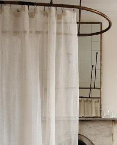 Eileen Fisher Sheer Linen Shower Curtain: Remodelista