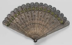 Fan, Late 18thc., Made of silver filigree and ribbon