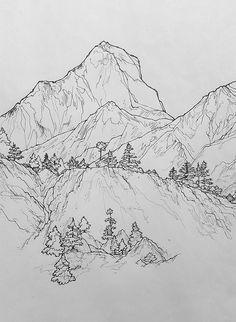 Mountain Pencil Drawing : mountain, pencil, drawing, Pencil, Drawing, Mountains, Ideas, Landscape, Drawings,, Mountain, Drawing,, Drawings