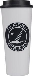 Alaska Airlines | 20 oz Plastic Tumbler with Screw on Lid - Alaska Airlines - Horizon Air Online Store Horizon Air, Alaska Airlines, Plastic Tumblers, Aviation, Store, Plastic Cups, Larger, Shop