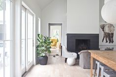 lime washed floors + linen + gray desiretoinspire.net - A second helping of Heather A Wilson