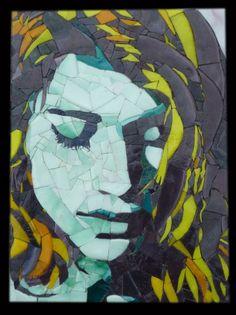 Léa B. so simple. Mosaic portrait