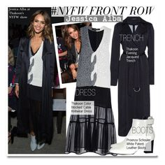 """""""NYFW Front Row-Jessica Alba"""" by kusja ❤ liked on Polyvore featuring Thakoon, Proenza Schouler, NYFW, fashionWeek, celebstyle, jessicaalba and PolyvoreNYFW"""