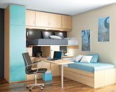 Todo para las habitaciones juveniles e infantiles. Armarios, camas de diseño. Moderno funcional y práctico con Facil Mobel.