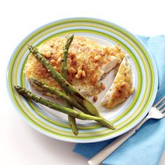 Try this Potato-Crusted Chicken recipe from a Top Chef winner | http://www.rachaelraymag.com/Recipes/rachael-ray-magazine-recipe-search/dinner-recipes/potato-crusted-chicken