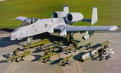 A-10 Tunderbolt II weapons carriage (wing hung) - Cannon rounds not shown, this photo depicts the weapons carriage capability!