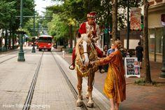 Indian groom riding a beautiful baraat horse. http://www.maharaniweddings.com/gallery/photo/91201