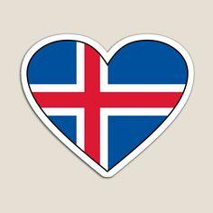 Iceland Flag. Love Iceland Heart Flag. íslenski fáninn. Christmas. Icelander Gifts. by GraceTee | Redbubble Iceland Flag, Heart Print, Love Heart, Logos, Christmas, Gifts, Xmas, Presents, Heart Of Love
