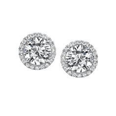 Every girl needs at least one pair of beautiful diamond stud earrings - perfect for day and night. These are White Gold Diamond Earrings by Brown Jewelers