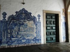 Salvador da Bahia   Convento de / Convent of São Francisco   corredor / corridor #Azulejo #BlueAndWhite #Barroco #Baroque #Brasil #Brazil