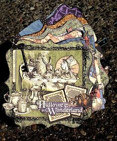 Scrap That Chat: Halloween in Wonderland October Mini Album Kit!