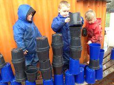 Plant pot castle building
