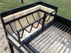 Our Uruguayan Grill with Hearth 45 X is designed to grill Uruguayan Asado over red hot coals. The hearth with grate allows wood to be burned into hot coals which are then pushed beneath the cooking grate. Outdoor Oven, Outdoor Fire, Outdoor Cooking, Asado Grill, Bbq Grill, Grilling, Barbecue Four A Pizza, Argentine Grill, Bbq Kitchen