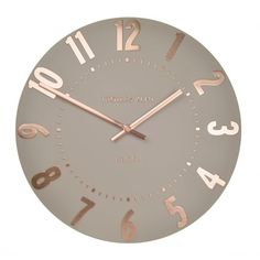 "Thomas Kent Clocks Mulberry 12"" Wall Clock - Rose Gold"