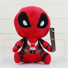 2017 Q Version 20cm X-men Deadpool Spiderman Movie Action Figure Plush Toys Dolls For Gifts