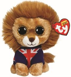 Amazon.com  Hero Lion Ty Beanie Boo Uk Exclusive  Toys   Games b9e2a7023602