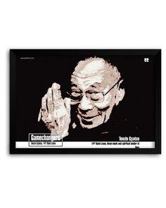 Preseed Prints The Gamechangers, Tenzin Gyatso Motivational Matte Framed Poster