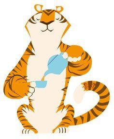 vintage tiger illustration - Google Search