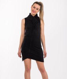 Razor dress  black asymetrical by Alienelia on Etsy