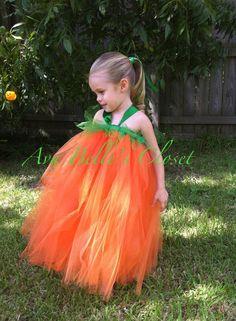 Little Pumpkin Tutu Halloween Costume 12m to 5T