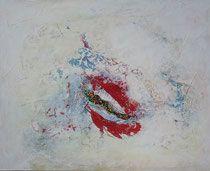 fulfilling life - la vida plena  técnica mixta y collage sobre lienzo 81 x 100 cm