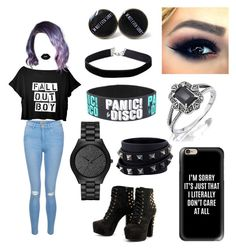 """Emo"" by sophiehill2209 on Polyvore featuring New Look, Lime Crime, Miss Selfridge, Michael Kors, Valentino and Casetify"