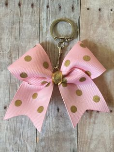 Gold and Pink Polka Dot Mini Cheer Bow Keychain by JustAboutBows Cheer Gifts, Team Gifts, Cheer Bows, Pink Car Accessories, Crochet Car, School Cheerleading, Cheerleading Uniforms, Movie Gift, Birthday Gifts For Teens