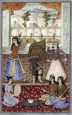Iran_Female_dancers_and_musicians ANON 18TH C
