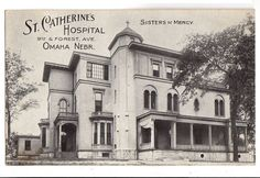 Vintage St Catherines Hospital Omaha Nebraska 1910s Postcard Sisters of Mercy 9th and Forest Avenue