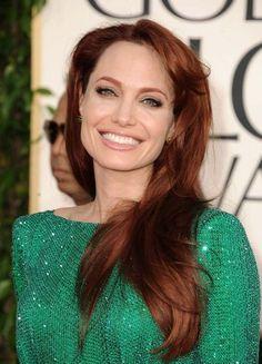 Angelina Jolie reddish hair