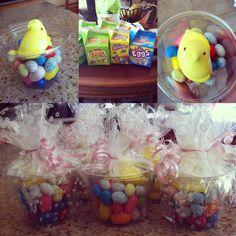 Classmate goodie bag idea for easter little girl pinterest easter ideas for kids peep nest gum ball eggs robin eggs cry baby eggs diy easter negle Gallery