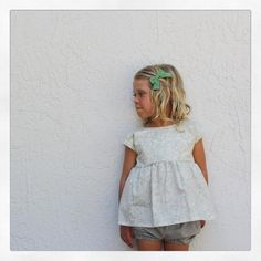 Botanical tunic || summer fashion || Childrens fashion || classic clothing || minimal || minimalist kids || bows || baby fashion || baby bows