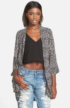 Band of Gypsies Floral Print Kimono available at #Nordstrom