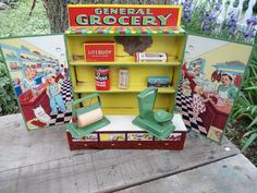 Tin General Grocery Toy Vintage Store