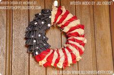 Barn Wood American Flag Decor and Patriotic Wreath {reminders}