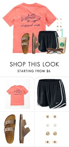 """""""Any set ideas? Really bored"""" by flroasburn ❤ liked on Polyvore featuring Vineyard Vines, NIKE, TravelSmith, Forever 21 and H&M"""