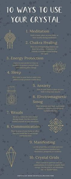 Ten ways to use your crystals for spiritual self-healing. Ten ways to use your crystals for spiritual self-healing. Chakra Heilung, Chakra Crystals, Crystals And Gemstones, Stones And Crystals, Wicca Crystals, Crystal Healing Stones, Crystal Magic, Crystal Uses, Crystal Pendulum