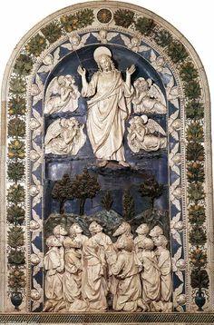 'Ascensione', terracotta di Andrea Della Robbia (1435-1526, Italy)