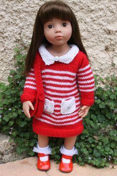 Tuto tricot robe d'écolière