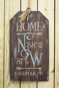 Home Coordinates Pattern Packet Patricia Rawlinson Rustic Wood Signs Coordinates Home Packet Patricia Pattern Rawlinson Diy Home Decor Projects, Diy Projects To Try, Wood Projects, Craft Projects, Decor Ideas, Diy Ideas, Decor Crafts, Craft Ideas, Diy Wall Shelves