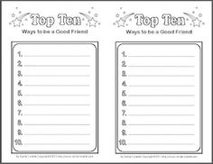 Try a Top Ten Writing Activity for the end of the school year