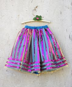 Look at this Blue Sequin Hattie Skirt - Toddler