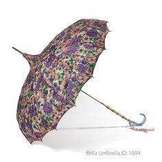 Umbrella ID 1094 | Pink and Purple Floral Pattern Pagoda Umbrella | Bella…