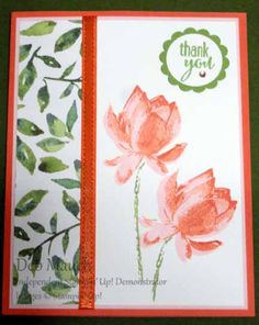 Lotus Blossom Thank You by dcmauch - Cards and Paper Crafts at Splitcoaststampers