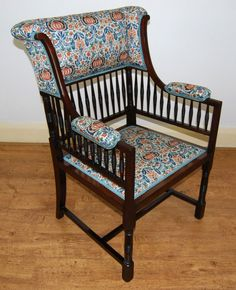 Wingback Armchair, Armchairs, Sofas, Antique Bench, Antiques For Sale, Antique Photos, Arts And Crafts, Benches, Living Rooms