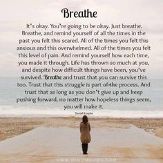 Just breathe the chaos will pass and the truth of your future will come too light, your time will come