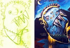 Children's Drawings Turned Into Realistic Paintings