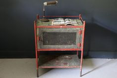 Antique Industrial Pie Safe Cabinet by CanalSideStudio on Etsy