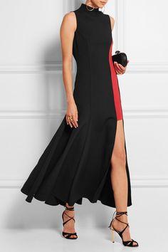 Versace|Two-tone crepe dress|NET-A-PORTER.COM