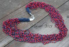 beaded crochet necklace bracelet